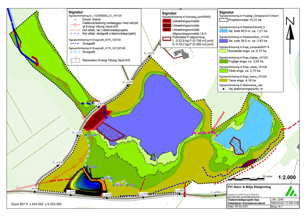 Konsekvenskort for vådområdeprojekt